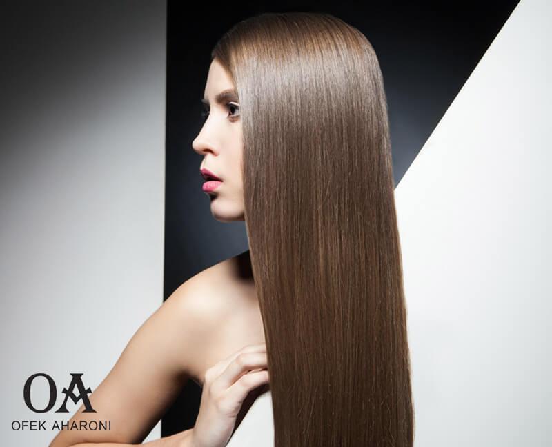מוצרי טיפוח לשיער שעבר החלקה